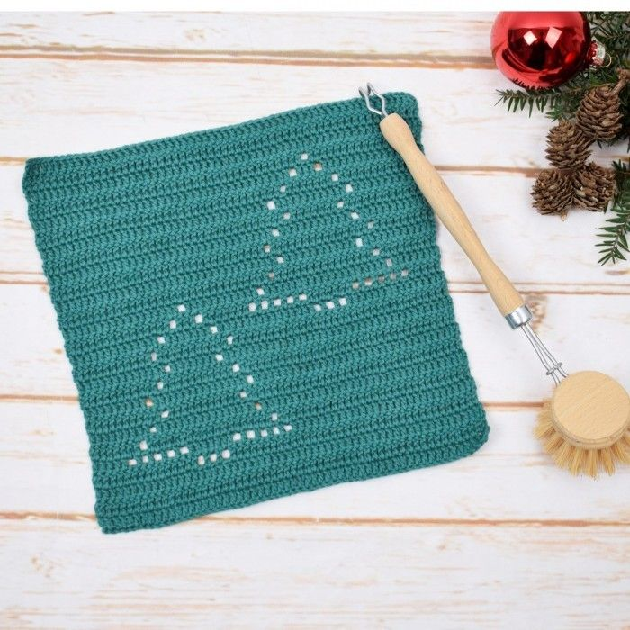 Karklud Juletrae Fra Christmas Crochet Patterns Dish Cloths Dishcloth Crochet Pattern
