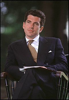 John F. Kennedy, Jr.  He was one handsome young man!