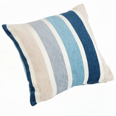 Chenille Stripes Duck Egg Blue Cushion