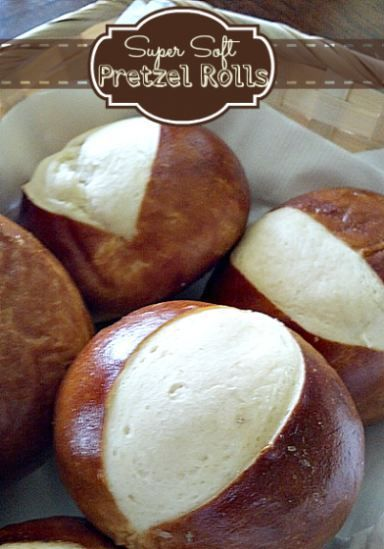 Soft pretzel rolls. #superbowlfood
