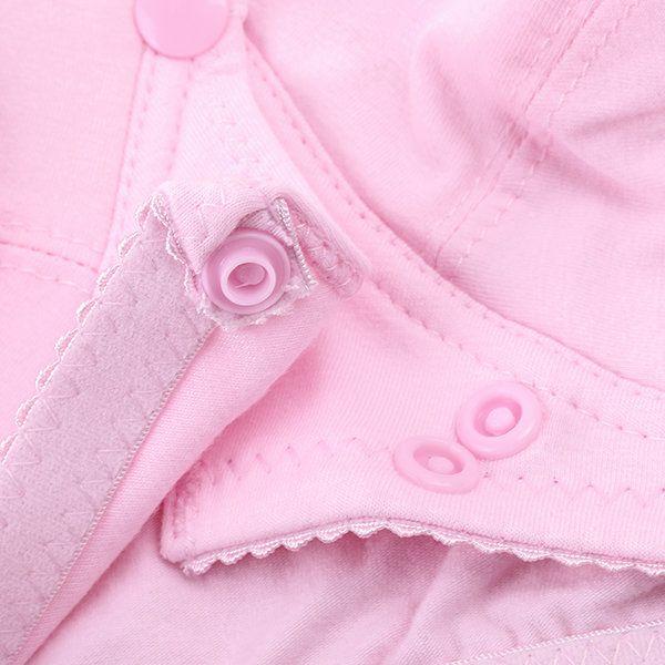 Comfortable Cotton Soft Front Button Wireless Nursing Bras