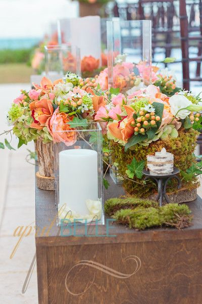 Pretty Peach Colors For A Spring Or Fall Cape Cod Beach Wedding