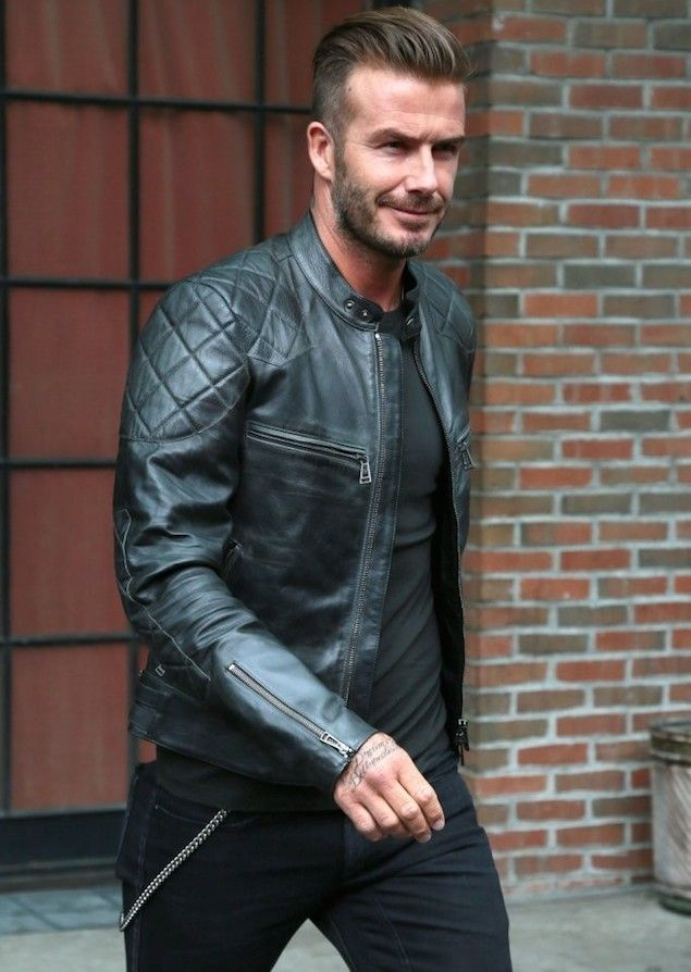 buy cheap buying now great deals 2017 David Beckham Wears Belstaff Quilted Leather Biker Jacket in ...
