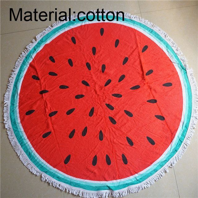 New Bohemia 009 women 100% Cotton Watermelon Cool Tassels Summer Beath Sunbath Swimming Lady Bath Towel Cover-ups Camping Mat