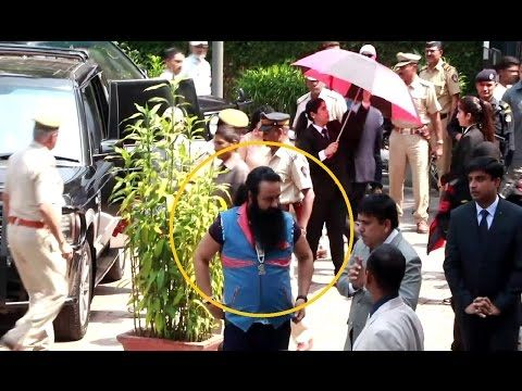 Gurmeet Ram Rahim Singh with TIGHT SECURITY at success party of MSG The Warrior Lion Heart.