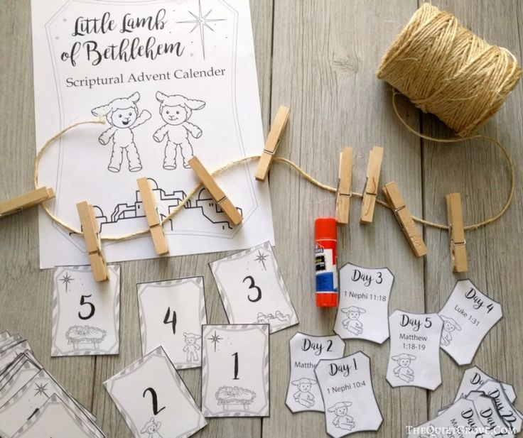 Free Printable Little Lamb of Bethlehem Advent Calendar ⋆ The Quiet Grove