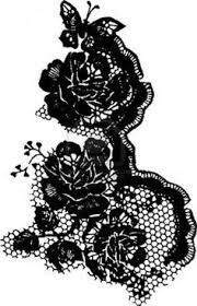 Image result for black lace tattoos for women