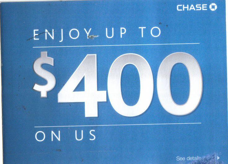 Chase Bank Checking / Saving Account Opening $400 Bonus Coupon  12/15/2014