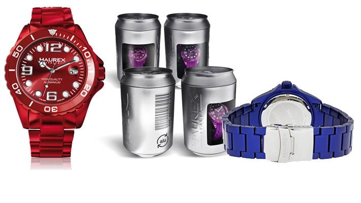 70% off Haurex Ink Bracelet Aluminium Watch + Free Rubber Band ($45 instead of $150)