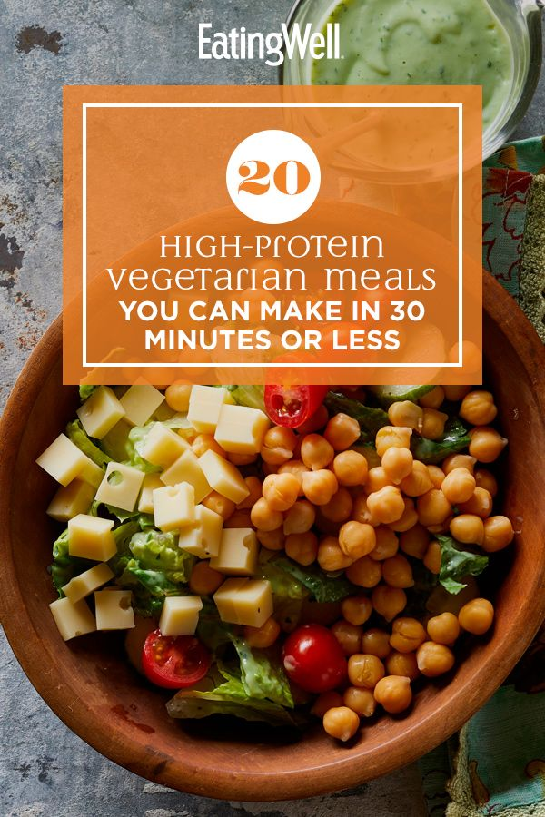 20 High Protein Vegetarian Meals You Can Make In 30 Minutes Or Less In 2020 High Protein Vegetarian Recipes High Protein Recipes Vegetarian Recipes