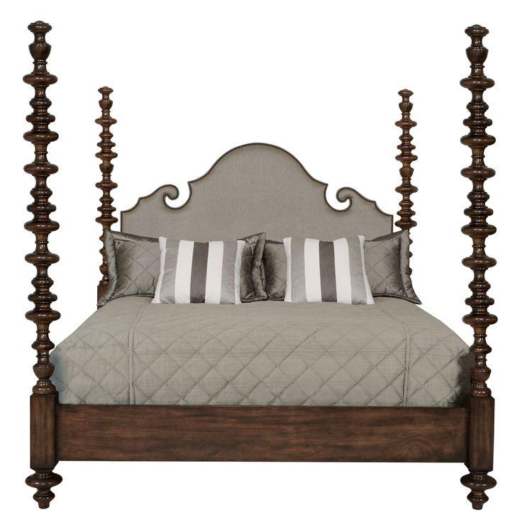 Bernhardt. Vestige Upholstered Poster Bed