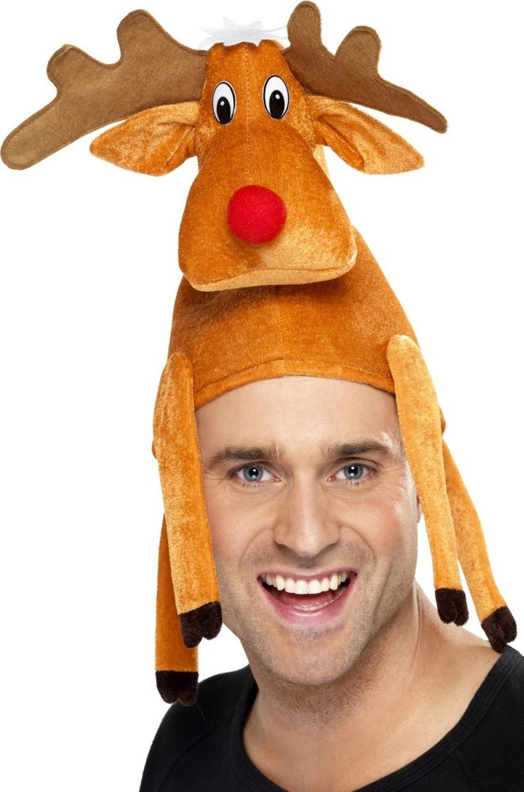 Funny reindeer hat for adults