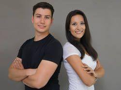 Hochschule Mittweida: Start-up mit Fitness! Das Gründerteam von Fitiba: Sebastian Oehlschläger und Nelly Marie Bojahr