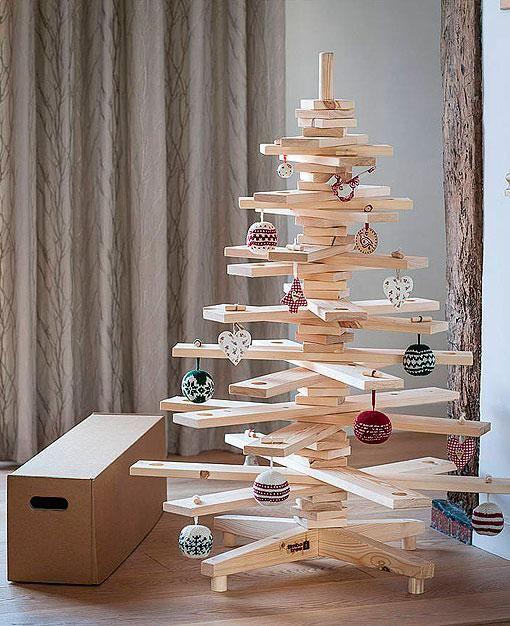 Ideas DIY, Arboles de Navidad en madera. La madera es la protagonista de estos arboles navideños. ¿Cuál os gusta más?