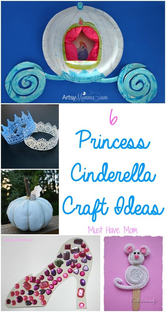 Cinderella craft ideas for you, along with some other fun princess activities! Your little one will LOVE these! Whether you are planning a Cinderella themed