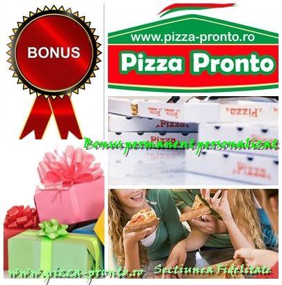 Pizza Pronto Bucureşti a lansat Programul de fidelizare Noi nu avem clienţi, noi avem prieteni! Detalii pe www.pizza-pronto.ro
