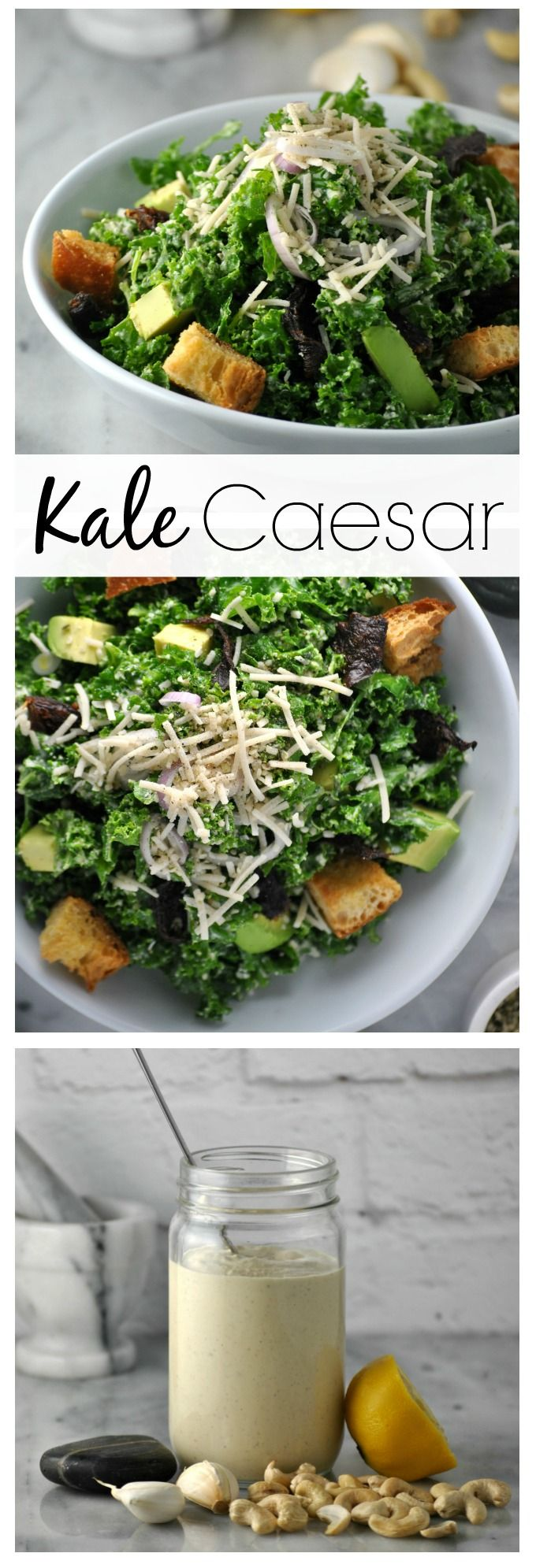kale caesar salad vegan sauces shiitake salad recipes bacon dressing ...