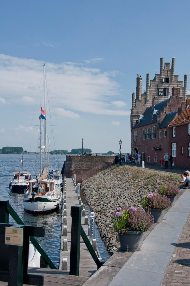 Campveerse Toren, Veere, Zeeland.The Netherlands. Visit shop.holland.com for Dutch Design gifts inpired by Dutch culture, water, boats, mills, etc.