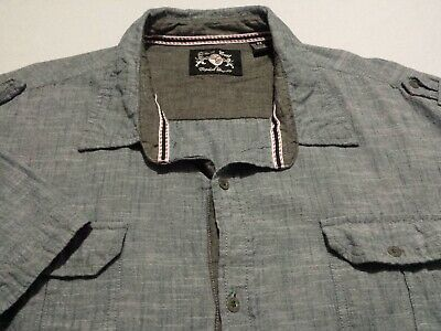 Details About English Laundry Mens Big 4x 4xlb Short Sleeve Button Front Solid Blue Shirt In 2020 Blue Shirt Geometric Shirt Hiking Shirts