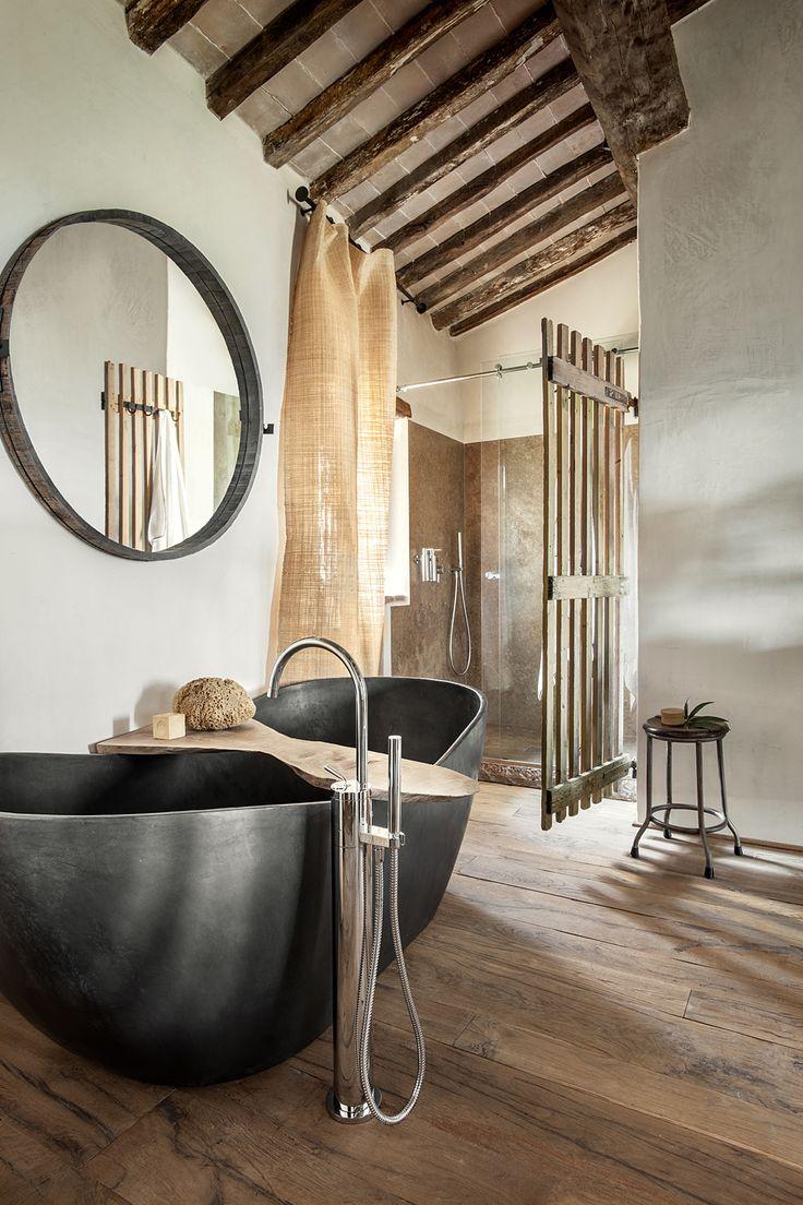 Baños Estilo Toscano:Hotel Monteverdi Tuscany