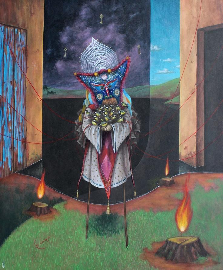 El Gato Chimney | La casa della polvere | 2012 | acrilic on canavas | 50x60cm