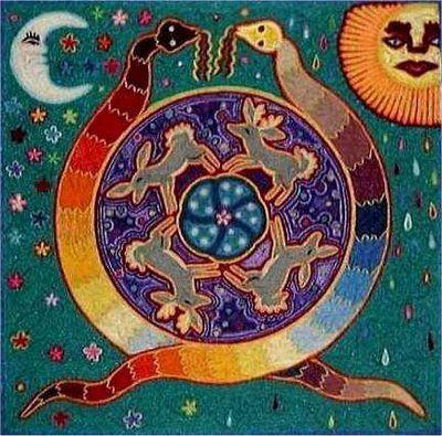 @solitalo La Serpiente Arco Iris también llamada La Madre Serpiente, es uno de los mitos de creación más extendidos y conocidos entre los nativos aborígenes de Australia. Esta divinidad ancestral e…