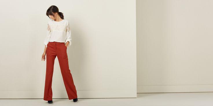 Sfera.com - Blusa con encaje. Manga larga abullonada. Detalle de cierre de cremallera en la espalda. Mujer,Camisas y blusas 028-056220218897 - http://sfera.eci.geci/es/mujer/camisas-y-blusas/blusa-encaje-56d89n2/18897/