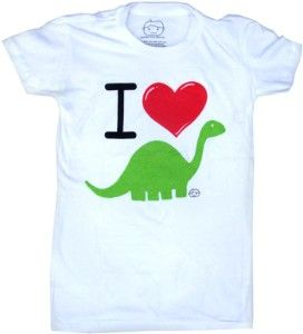 I Heart Dinosaurs shirt. I need to find one of these with a T. rex to give to my honey.
