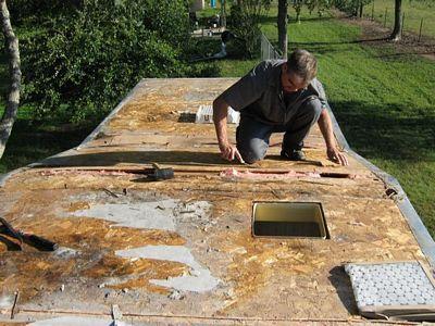RV Roof Repair   Roof Replacement Mobile RV Service Austin TX area David's Repair ...