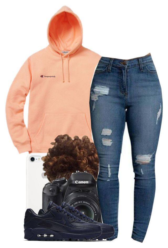 """Daylight"" by ashcake-wilson ❤ liked on Polyvore featuring Champion, Eos and NIKE"