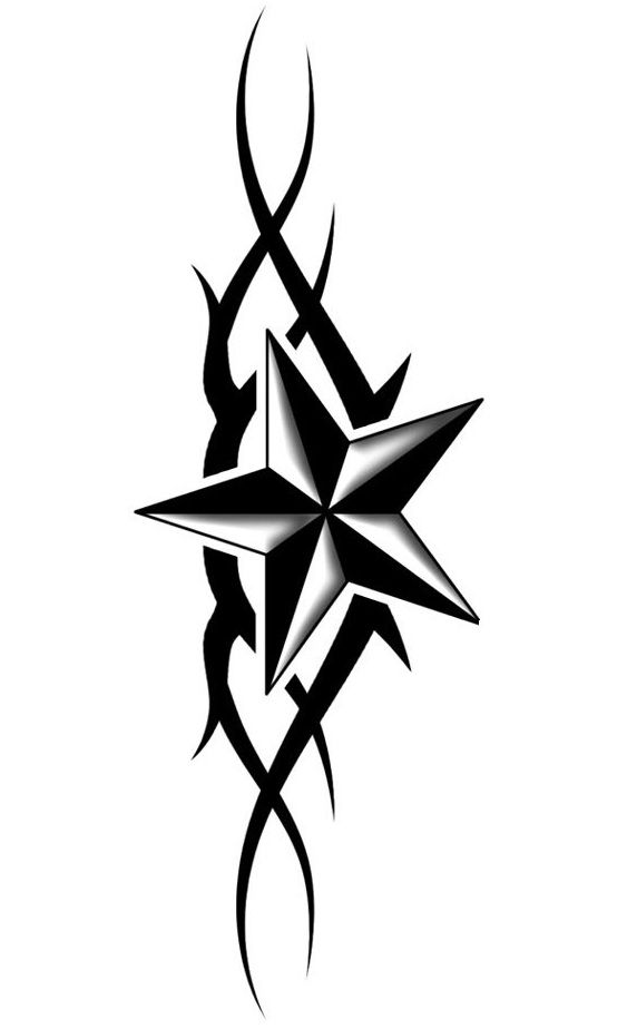 Star Tattoo Design - see more designs on http://thebodyisacanvas.com