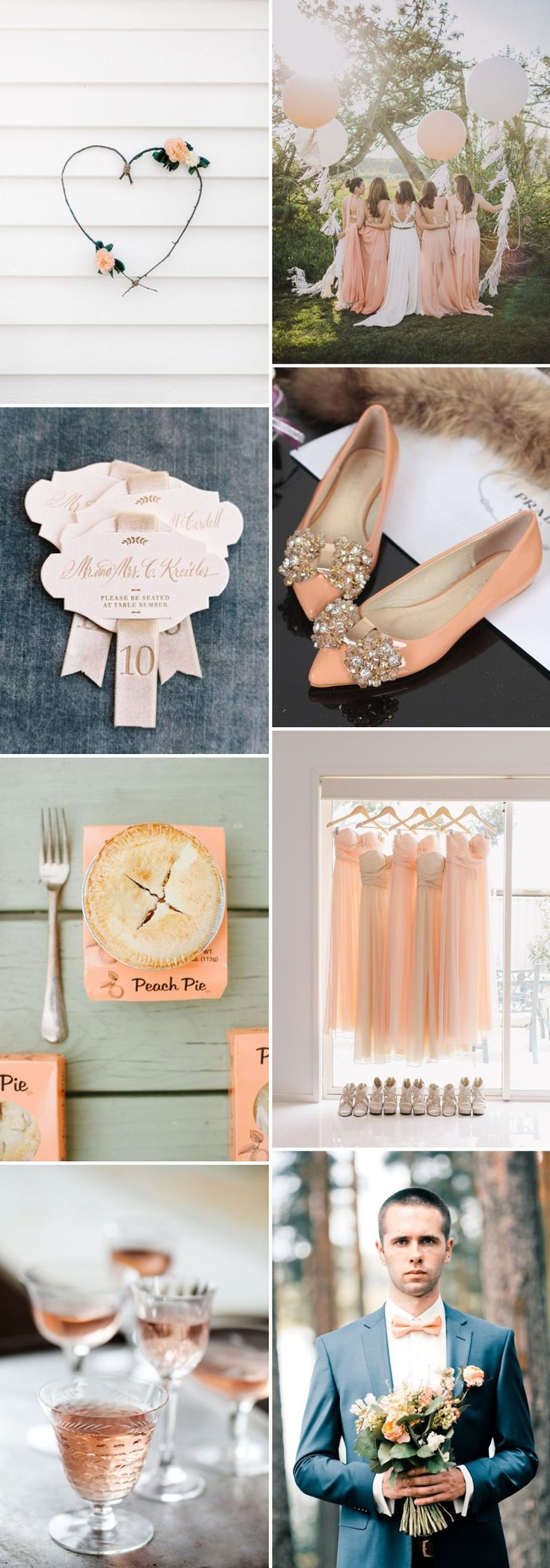 How To Create A Peach Colour Themed Wedding Using Flowers Bridesmaids Cakes And Decor. 0002 Colour Story: Peaches And Cream.