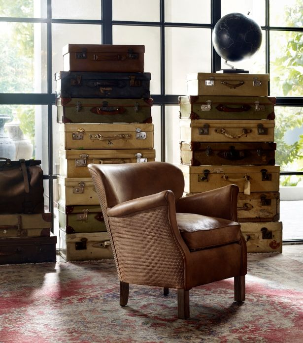 The classic Professor chair shows a rebellious streak in this daring new version, inspired by the studding on 1960s leather rock'n'roll jackets. The outside of the chair is wrapped in studded Pixel leather for a hard, protective feeling, while the interior of the seat is incredibly comfortable and soft to the touch. #Timothyoulton #midcenturymodern #midcenturyinteriors #dawsonandco
