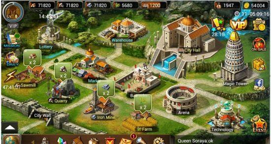 Age of Warring Empire Triche Code de Tricherie pour iOS – Android ou PC.[or, bois, pierre, fer, cultures] preuve 1