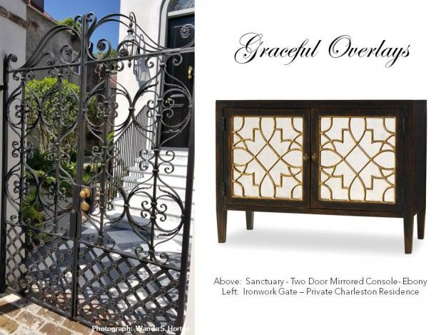 Graceful Overlays In Charleston And In The Sanctuary Collection Console By Hooker  Furniture.
