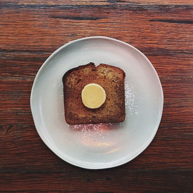 Banana bread and espresso butter // @ryanla_  https://instagram.com/p/2S3W29P3kK/?taken-by=ryanla_