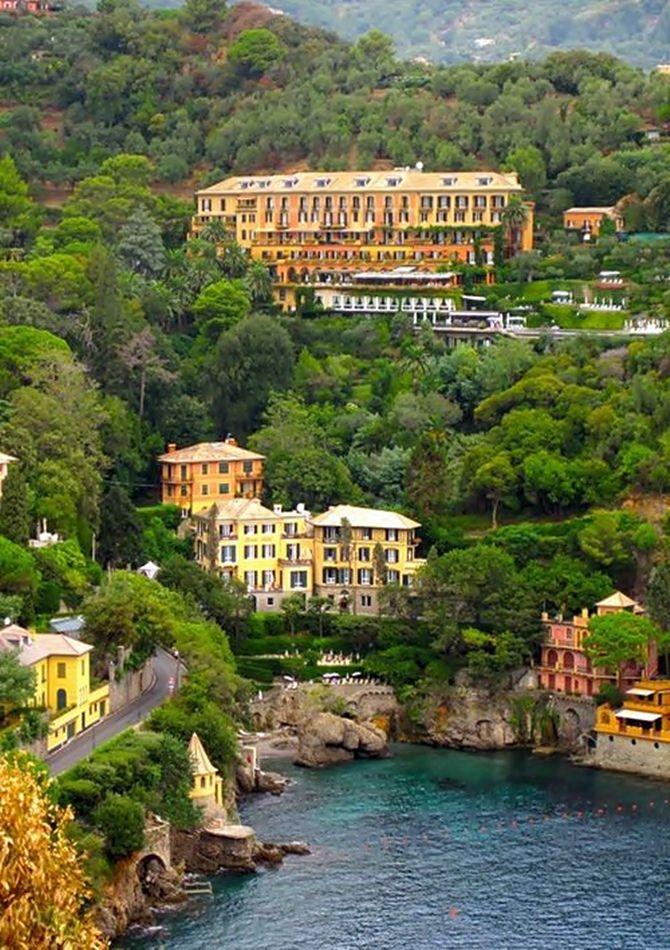 Portofino, um mundo à parte - Belmond Hotel Splendido, instalado estrategicamente no alto de uma colina.