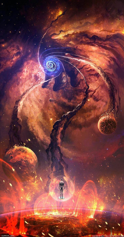 """"""". Galactus está llegando he oído los lamentos de los mundos - sin embargo, si hay tres palabras más terribles en cualquier rincón del Cosmos, yo no les he oído Galactus está por venir."""".  [Arte de fan]"""