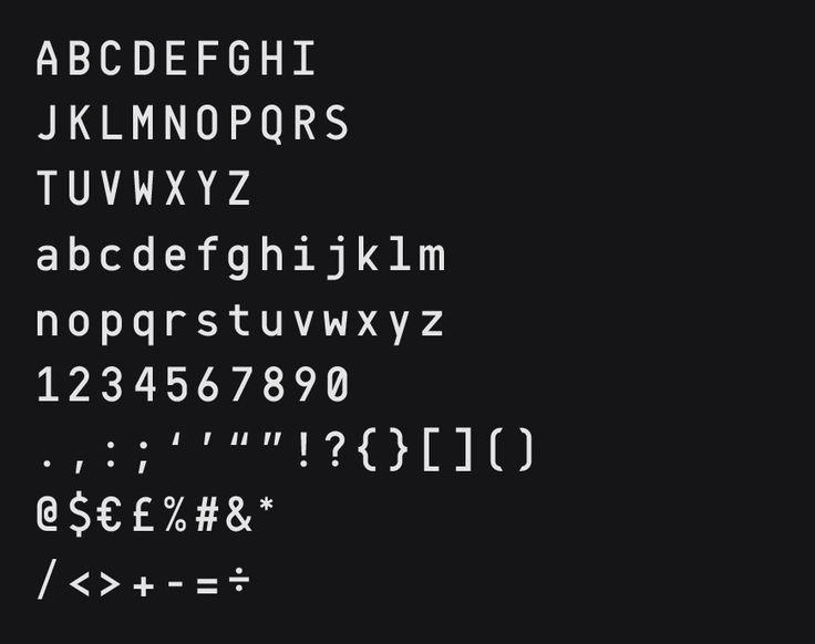 Font, Monospaced, Typiqal Mono, by Temple