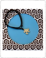 Collar- gargantilla   Beu006 Pieza rompecabezas pequeño níquel