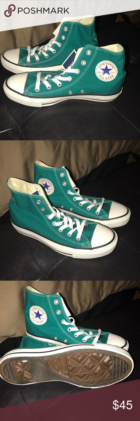 Sneakers Brand new Teal Converse Sneakers. The color on these are absolutely beautiful. Converse are Unisex these are a size 8 in Women's and a Size 6 in Men's.  Never worn Converse Shoes Sneakers