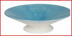 blue pedestal bowl