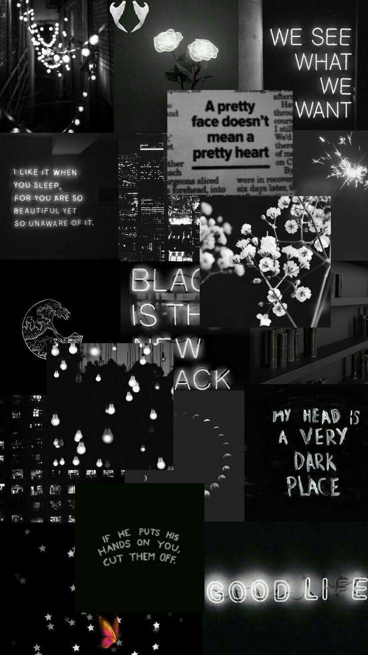 Pin By Carrollelsyalviniaix On Iphone 11 Pro In 2020 Black Aesthetic Wallpaper Cute Black Wallpaper Black Wallpaper Iphone