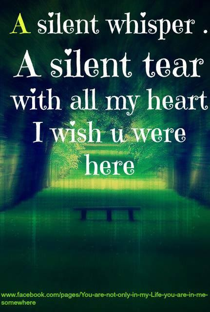 A silent whisper, a silent tear, with all my heart I wish you were here... -  #love #life #willandprobate #probate www.willandprobate.com