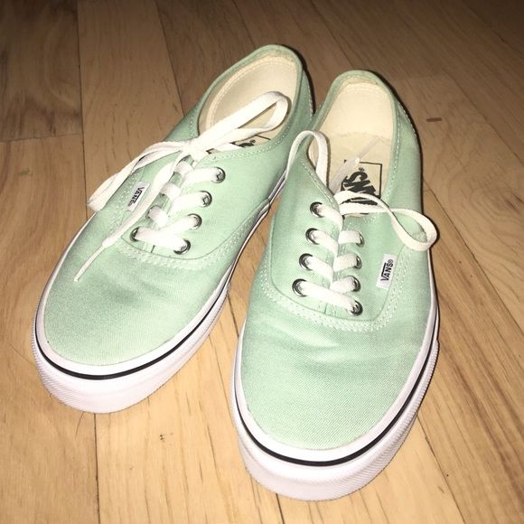 """Authentic """"Beach Glass"""" Mint Green Vans Great condition! Worn a couple times. Very clean and like new! Vans Shoes Sneakers"""