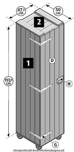 25 beste idee n over het bouwen van een kast op pinterest bouwen van een kast garderobe kast - Kast voor het opslaan van boeken ...