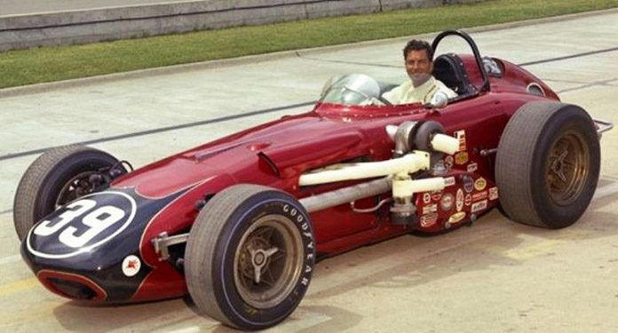 Bobby Grim at Indianapolis Motor Speedway in 1966. (Note: Turbo-charger)
