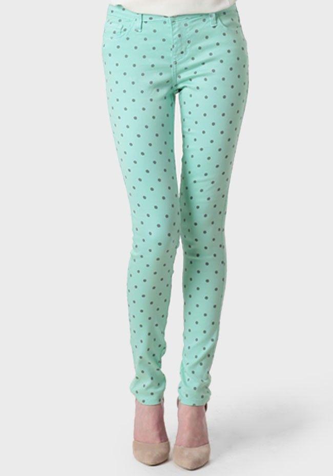 Justina Polka Dot Skinny Pants at ShopRuche.com