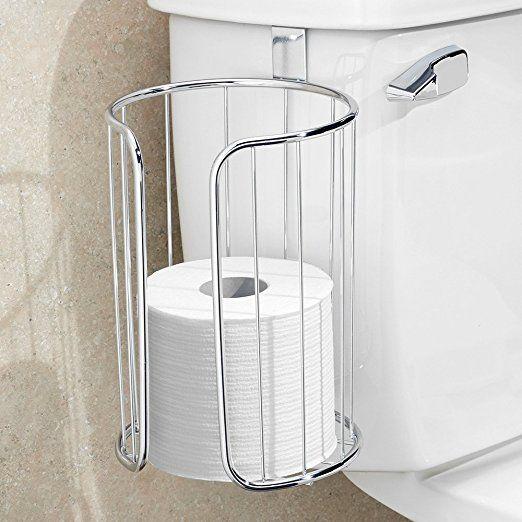 Amazon.com: InterDesign Classico Toilet Paper Holder for Bathroom Storage, Over the Tank - Horizontal, Chrome: Home & Kitchen