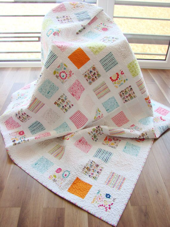 Modern Quilt / Custom Quilt / Twin Quilt / by Hearttoheartquilts